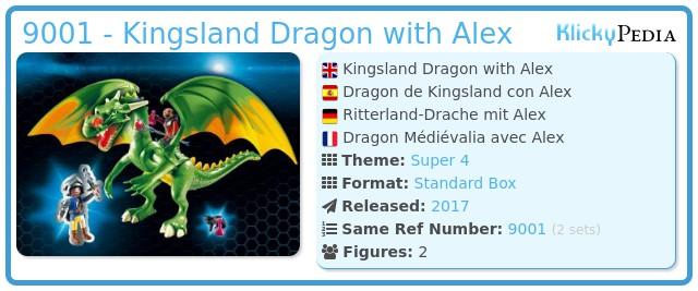 Playmobil 9001 - Kingsland Dragon with Alex