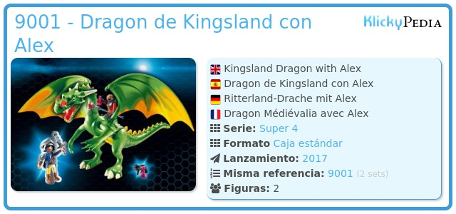 Playmobil 9001 - Dragon de Kingsland con Alex