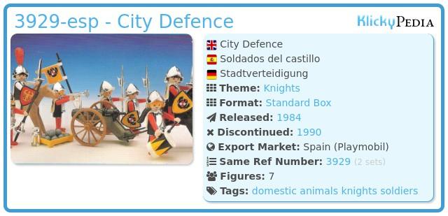 Playmobil 3929-esp - City Defence