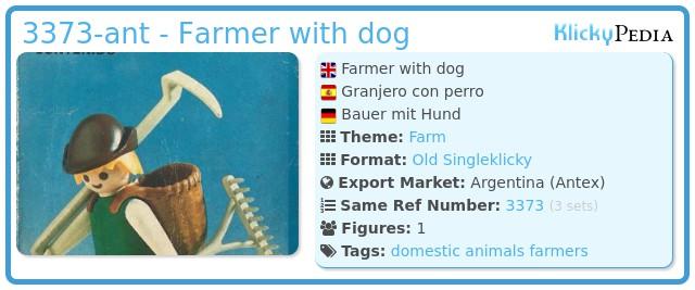 Playmobil 3373-ant -  Farmer with dog