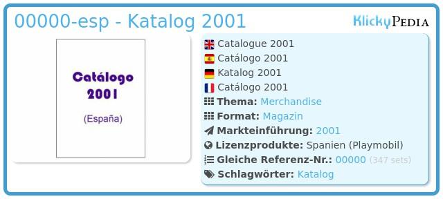 Playmobil 00000-esp - Katalog 2001