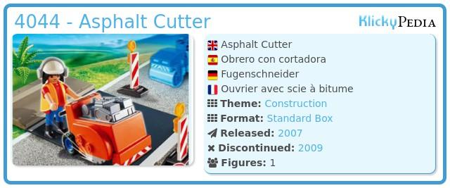 Playmobil 4044 - Asphalt Cutter