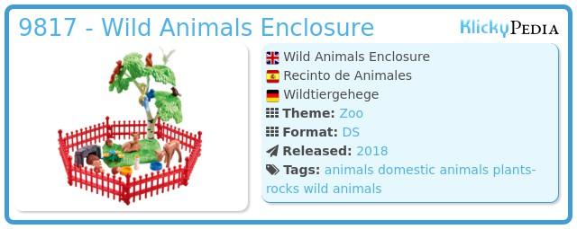 Playmobil 9817 - Wild Animals Enclosure