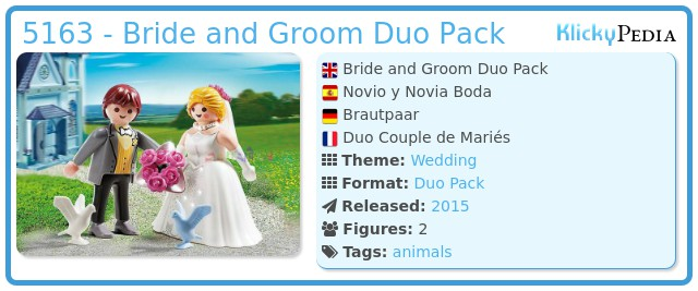 Playmobil 5163 - Bride and Groom Duo Pack