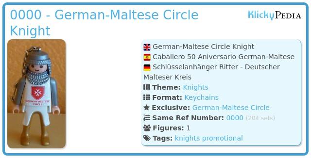 Playmobil 0000 - German-Maltese Circle Knight