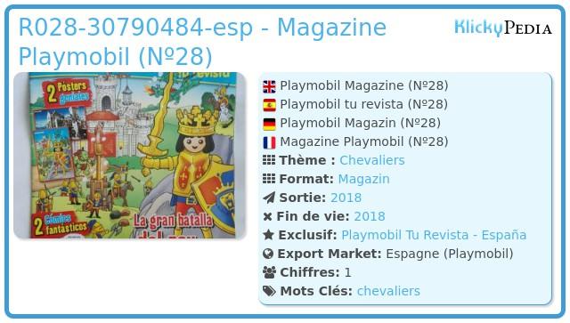 Playmobil R028-30790484-ESP - REY DE LOS CABALLEROS DEL LEóN (REVISTA Nº 28)-esp - King of the Lion's Knigths