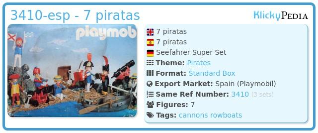 Playmobil 3410-esp - 7 piratas