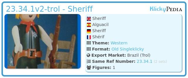 Playmobil 23.34.1 - V2-trol - Sheriff