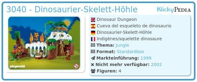 Playmobil 3040 - Dinosaurier-Skelett-Höhle