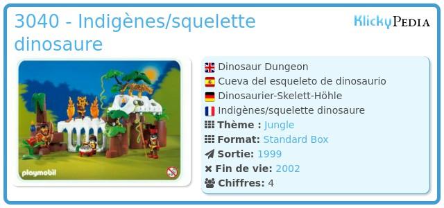 Playmobil 3040 - Indigènes/squelette dinosaure