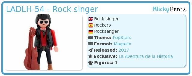 Playmobil LADLH-54 - Rock singer