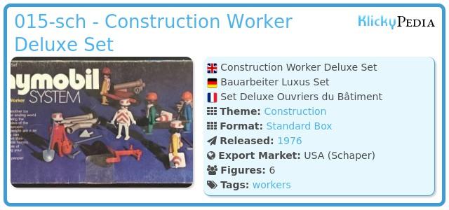 Playmobil 015-sch - Construction Worker Deluxe Set