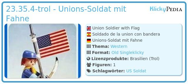 Playmobil 23.35.4-trol - Unionssoldat mit Fahne