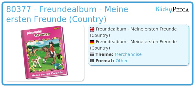 Playmobil 80377 - Freundealbum - Meine ersten Freunde (Country)