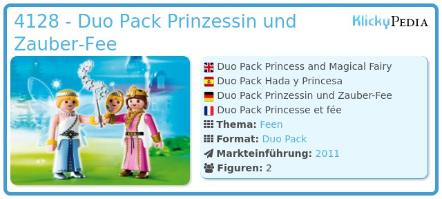 Playmobil 4128 - Duo Pack Prinzessin und Zauber-Fee
