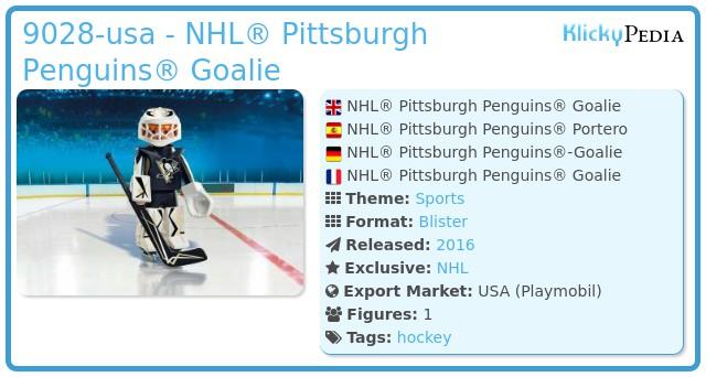 Playmobil 9028-usa - NHL® Pittsburgh Penguins® Goalie