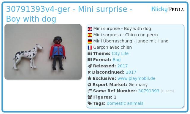 Playmobil 30791393v4-ger - Mini surprise - Boy with dog