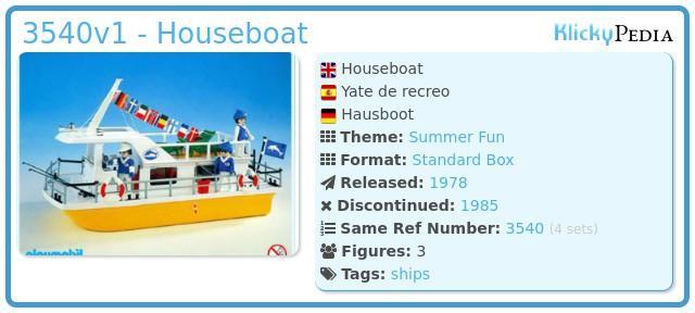 Playmobil 3540v1 - Houseboat