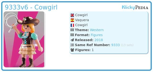Playmobil 9333v6 - Cowgirl