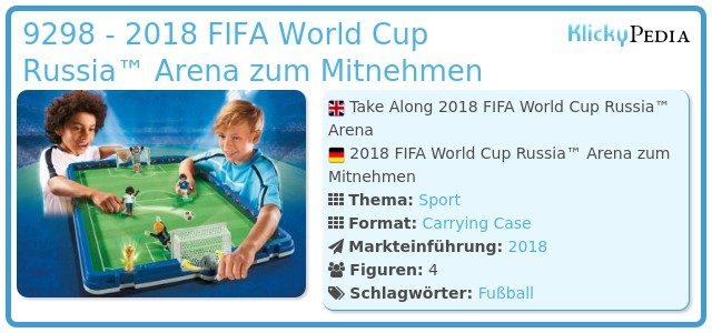 Playmobil 9298 - 2018 FIFA World Cup Russia™ Arena zum Mitnehmen