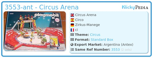 Playmobil 3553-ant - Circus Arena