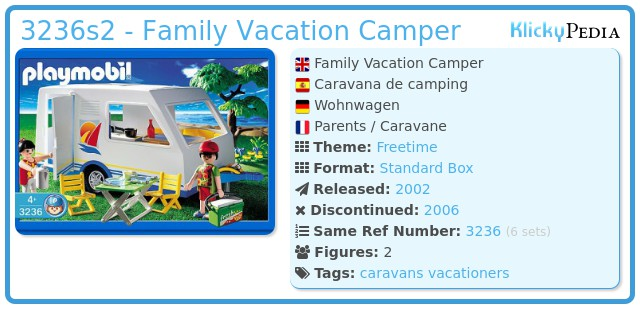 Playmobil 3236s2 - Family Vacation Camper