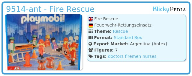 Playmobil 9514-ant - Fire Rescue