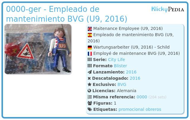 Playmobil 0000-ger - Empleado de mantenimiento BVG (U9, 2016)