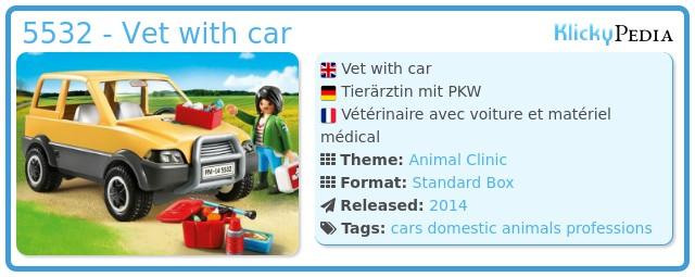 Playmobil 5532 - Vet with car