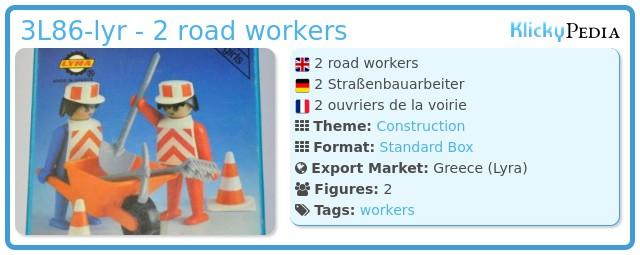 Playmobil 3L86-lyr - 2 road workers