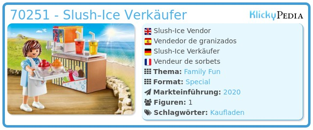 Playmobil 70251 - Slush-Ice Verkäufer