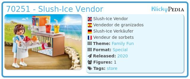Playmobil 70251 - Slush-Ice Vendor