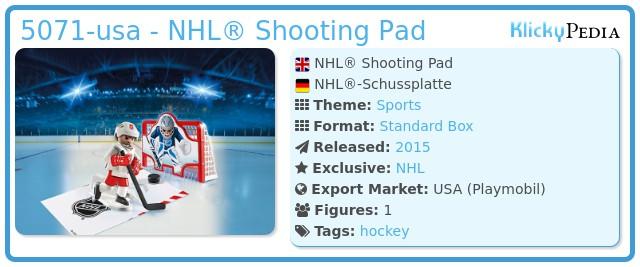 Playmobil 5071-usa - NHL® Shooting Pad