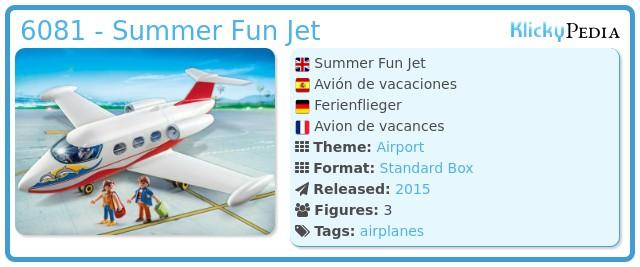 Playmobil 6081 - Summer Fun Jet