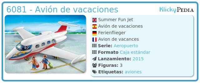 Playmobil 6081 - Avión de vacaciones