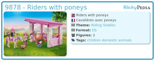 Playmobil 9878 - Riders with poneys