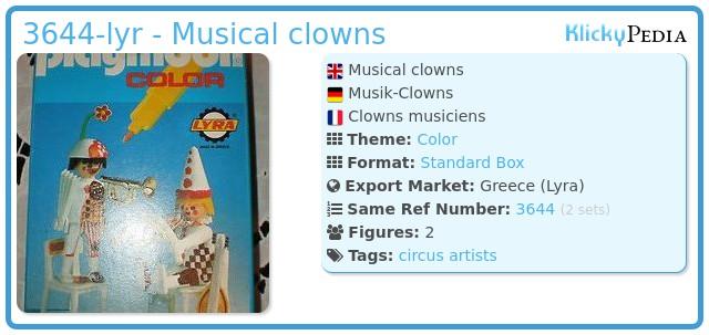 Playmobil 3644-lyr - Musical clowns