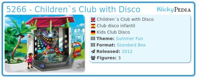 Playmobil 5266 - Children`s Club with Disco