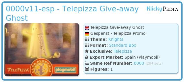 Playmobil 0000v11-esp - Telepizza Give-away Ghost