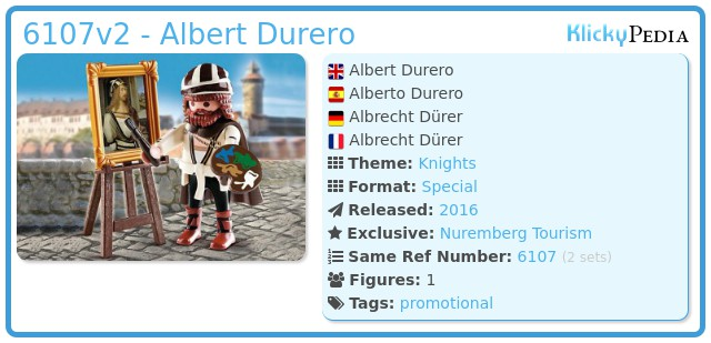Playmobil 6107v2 - Albert Durero