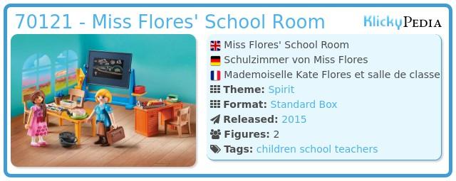 Playmobil 70121 - Miss Flores' School Room