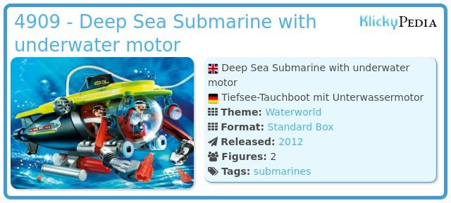 Playmobil 4909 - Deep Sea Submarine with underwater motor