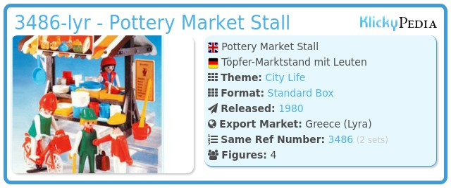 Playmobil 3486-lyr - Pottery Market Stall