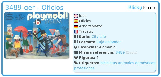 Playmobil 3489-ger - Oficios