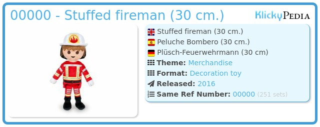 Playmobil 00000 - Stuffed fireman (30 cm.)