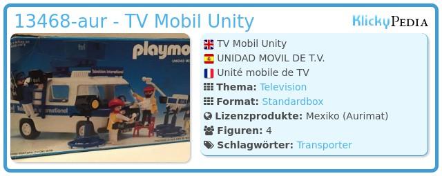 Playmobil 13468-aur - TV Mobil Unity