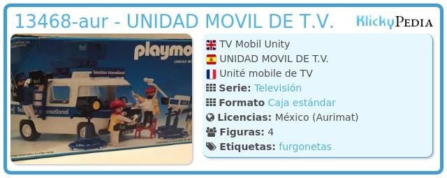 Playmobil 13468-aur - UNIDAD MOVIL DE T.V.