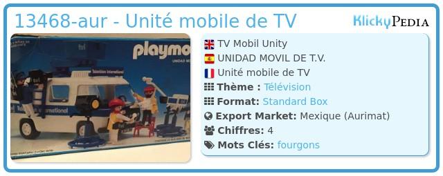 Playmobil 13468-aur - Unité mobile de TV