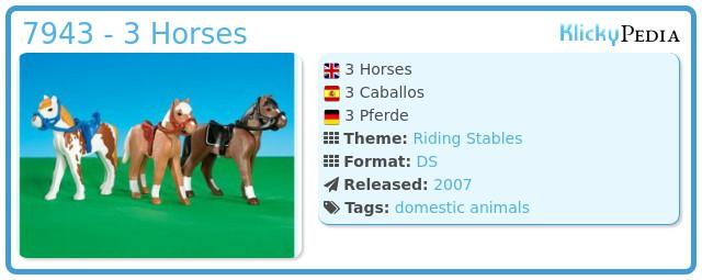 Playmobil 7943 - 3 Horses
