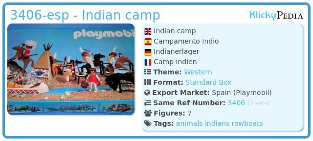 Playmobil 3406-esp - Indian camp
